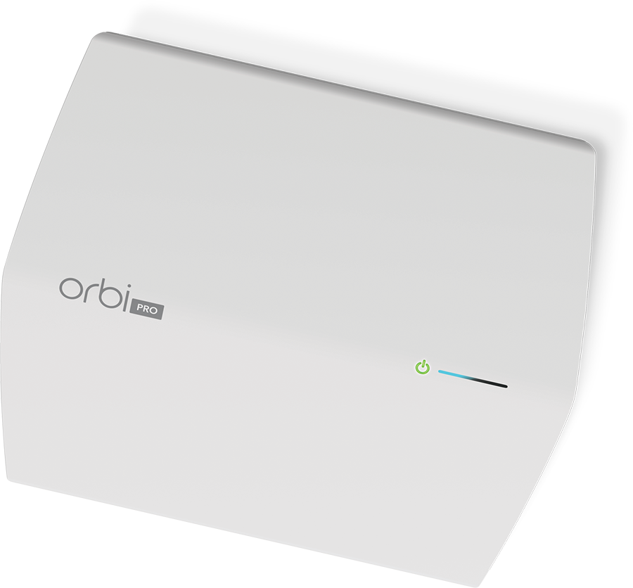 Die Rückseite eines Orbi Pro Gerät